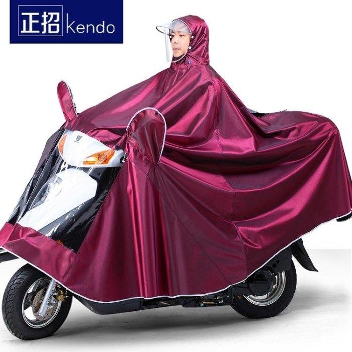 正招摩托車雨衣單人雙人男女成人電動自行車騎行加大加厚防水雨披