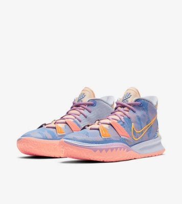 NIKE Kyrie 7 EP Expressions 藝術家  畫布 DC0589-003 淺藍 粉紅