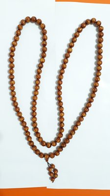 【九龍藝品】金海柳108顆念珠 ~ 珠子約12mm/重量約123公克【 2 】