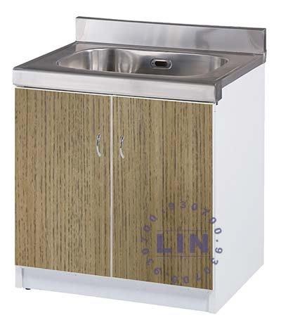 【品特優家具倉儲】R1501-01流理台水槽雙開門-塑鋼