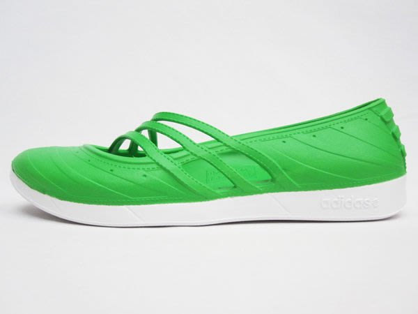 ~FUJIJO~現貨~超特價~日本【adidas愛迪達】炫彩超級輕量防水輕便運動休閒拖鞋懶人鞋海灘鞋 綠色23.5cm