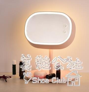 『格倫雅品』LED化妝臺式鏡子可愛女小夜燈現代簡約多功能觸摸