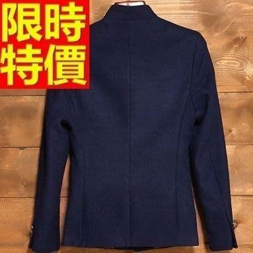 中山裝 唐裝 男外套-加厚毛呢中國風男西裝外套65e34[獨家進口][米蘭精品]