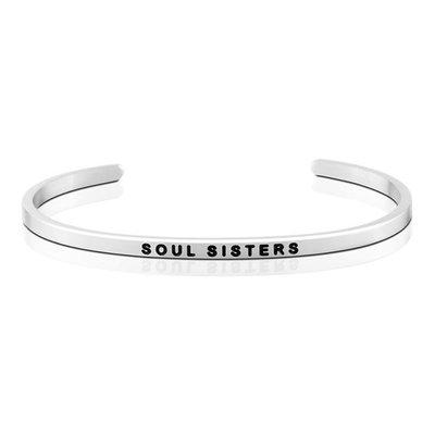 MANTRABAND 美國悄悄話手環 Soul Sisters 閨密 閨蜜 銀色手環
