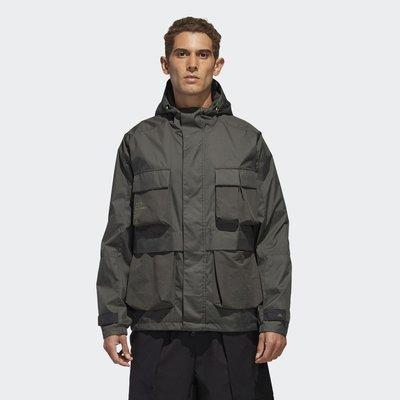 GOSPEL【Adidas TH WB JKT 】軍綠色 軍工裝 多口袋 夾克 外套 GF4013
