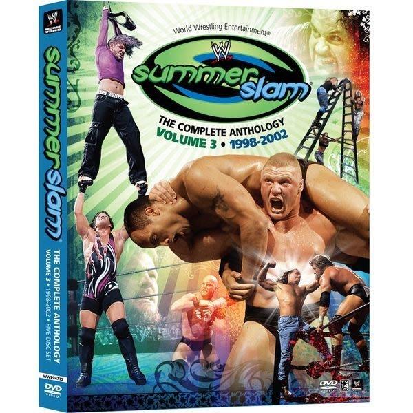 ☆阿Su倉庫☆WWE 摔角 Summerslam The Complete Anthology Vol 3 1998-2002 夏日衝擊精選超值組三部曲