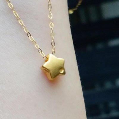 嗨,寶貝銀飾珠寶* 黃金 翡翠飾品☆999足金純黃金 3D硬金 時尚精品 鎖骨鍊 小星星黃金吊墜 18K金項鍊 套鍊