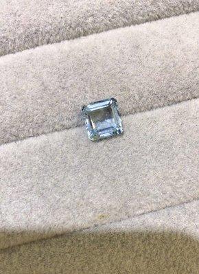 【海藍寶裸石】天然海藍寶裸石 2.32克拉 清澈透亮海水藍 全淨體