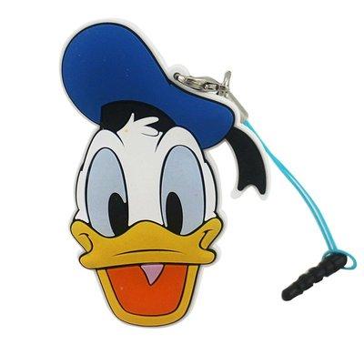 【卡漫迷】 唐老鴨 防塵塞 + 捲線器 夾式 集線器 ㊣版 Donlad 米奇妙妙屋 隨身 耳機