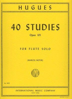 【599免運費】HUGUES 40 Studies, Opus 101 (MOYSE, Marcel) IMC.1620