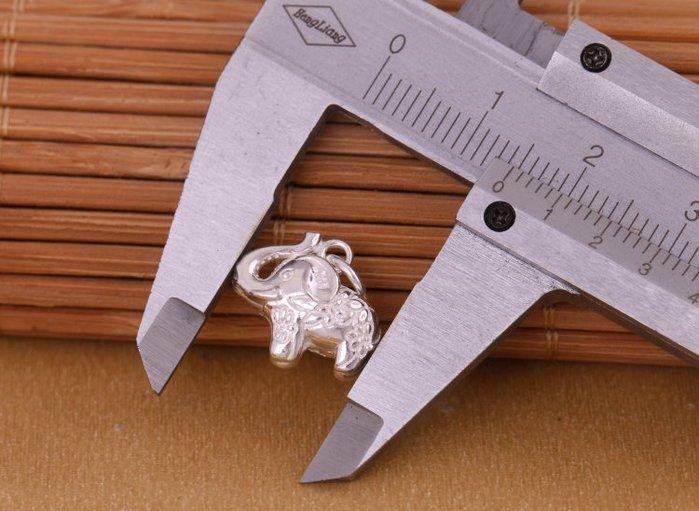 「還願佛牌」泰國 進口 925 純銀 足銀 配件 DIY 材料 立體 鏤空 小象 吊飾