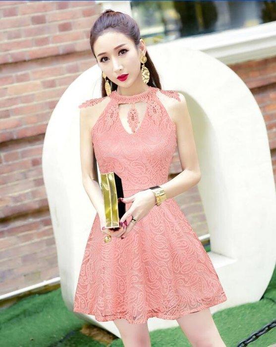 (現貨粉)潘朵拉衣閣c129新款韓版時尚氣質v領造型收腰顯瘦洋裝連身裙宴會尾牙春酒小禮服