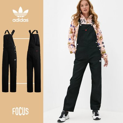 【FOCUS】全新 ADIDAS ORIGINALS R.Y.V DUNGAREES 黑色 吊帶褲 女款 GD3877