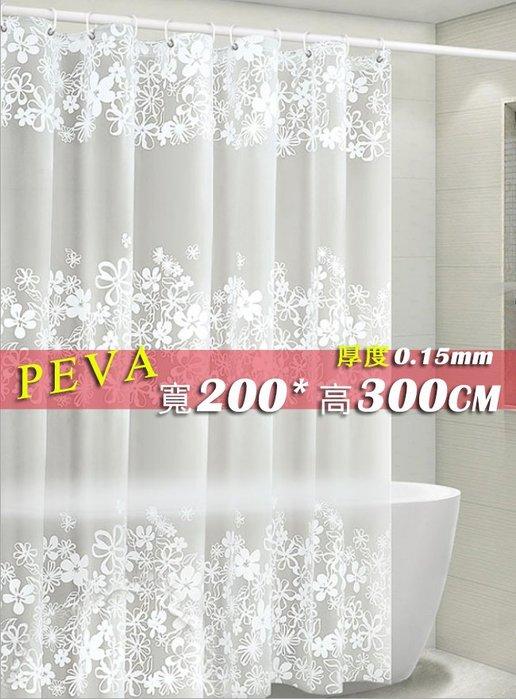 ☆ 喨晶晶雜貨舖☆ PEVA 加厚 防水 浴簾 鐵樹銀花 200*300 寬200x高300 隔間簾 門簾 阻擋冷暖氣