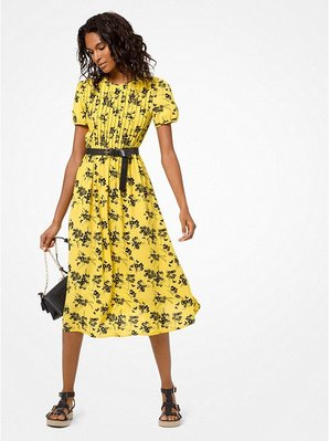 Michael Kors Botanical-Print Crepe Dress