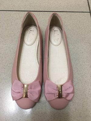 全新iki2超美櫻花粉色小羊皮平底鞋~春天必穿 很適合搭配流行的紗裙跟寬褲