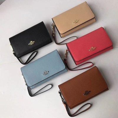 美國名品折扣店~ 特賣 COACH 30205 新款防刮真皮女士手拿包 皮夾 手機包  零錢包
