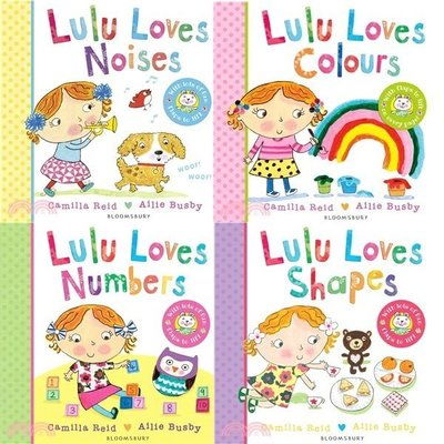 Lulu Loves Numbers Lulu Loves Colours  Noises Shapes 4書單本賣場