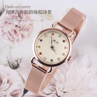 手錶韓國mn腕表女生手表中學生休閑時尚可愛石英表ulzzang簡約女表