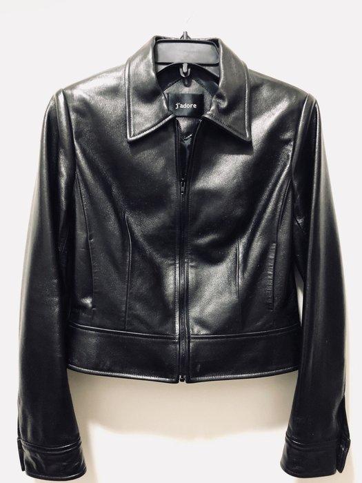 ~The Black Dan Moccani~ [二手拍] J'adore 歐美名人最愛 義大利製 羊皮短版皮外套