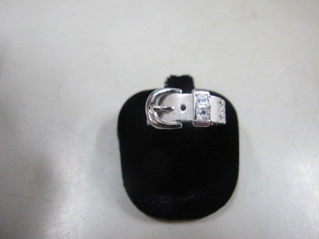 二手舖 NO.3299 純銀925戒指 時尚皮帶造型 首飾飾品