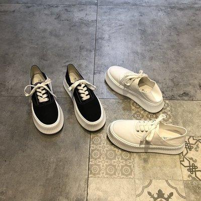 My fit guys 推薦 休閒 百搭 小白鞋 布面鞋 厚底鞋 休閒鞋 鞋子 2色 預購