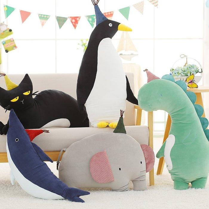 888利是鋪-軟體哈果抱枕大象鯊魚女生禮物陪你睡覺抱枕懶人毛絨玩具布娃娃#玩偶