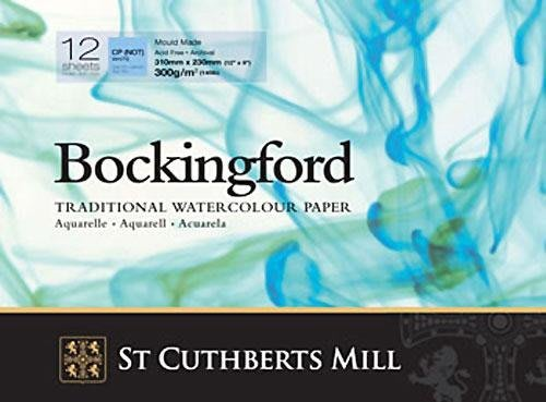 【Artshop美術用品】英國 山度士 Bockingford 冷壓水彩本 300g (26x36cm) 膠裝12入