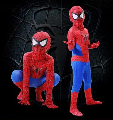 艾蜜莉舞蹈用品*表演道具*兒童連身蜘蛛人演出服-購買價$500元