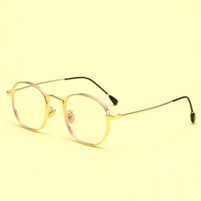 眼鏡 框 圓框 鏡架-簡約百搭復古潮流男女平光眼鏡4色73oe60[獨家進口][米蘭精品]