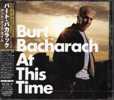 K - Burt Bacharach - At This Time - 日版 CD - NEW