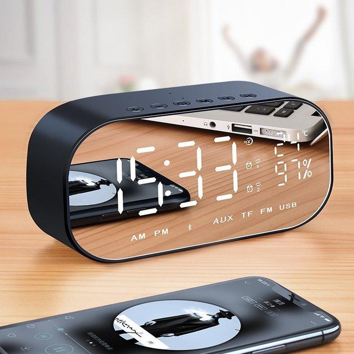 ☜男神閣☞諾西 V5無線藍牙音箱超重低音小剛炮家用迷你電腦手機鬧鐘小音響