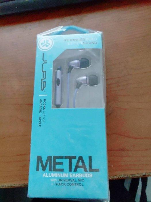 jlab audio metal 入耳式耳機~美國運動耳機品牌~紫色