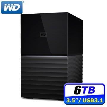 WD My Book Duo 6TB(3TBx2)USB3.1 3.5吋雙硬碟儲存 256位元AES硬體加密
