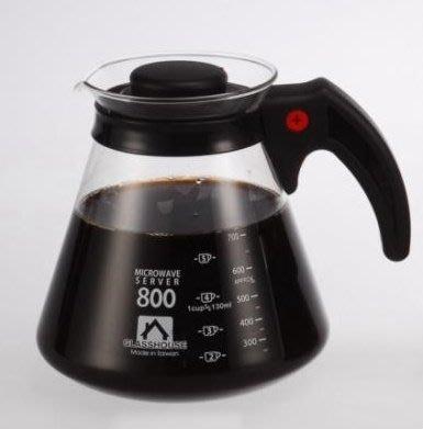 蘇菲亞精品傢飾~耐熱玻璃咖啡壺花茶壺/水果壺可直火800cc600cc360cc