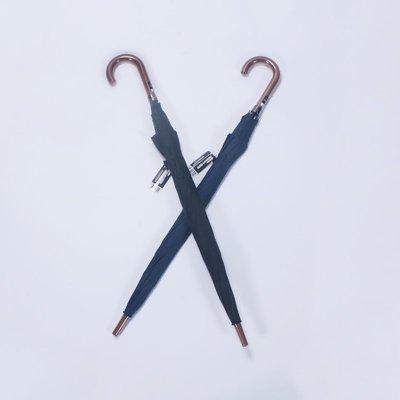 奇奇店-可遮2人防木紋彎把65cm素色長柄紳士男士雨傘#加固 #小清新 #晴雨兩用