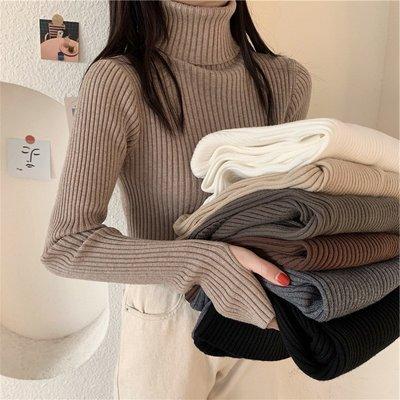 Fabgirls女裝加厚高領毛衣女秋冬2021新款上衣修身洋氣配大衣的內搭打底針織衫