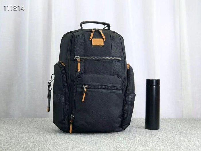 免運 TUMI 黑色 232389DRE 優質加厚尼龍拼接皮革 雙肩後背包 質感經典款 可放筆電 可插行李箱 耐磨 大容量 出差 商務 休閒 限量優惠