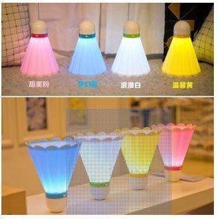 熱銷 USB充電羽毛球小臺燈 LED小夜燈 個性創意禮品燈57