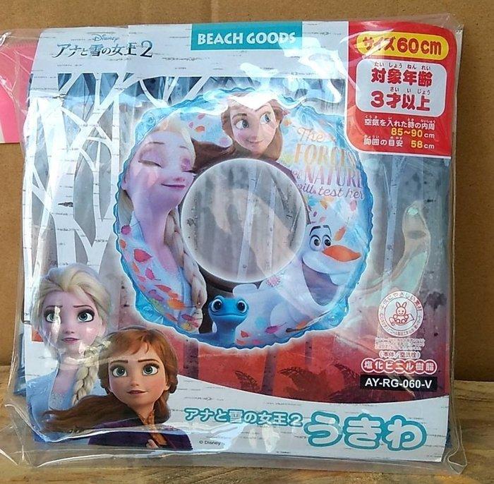 =海神坊=日本原裝空運 Disney 冰雪奇緣 60cm 游泳圈 艾莎 安娜 兒童安全泳圈 輔助圈 救生圈 海灘 附繩