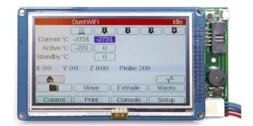 E3D Duet 原廠 PanelDue Displays (5吋)螢幕