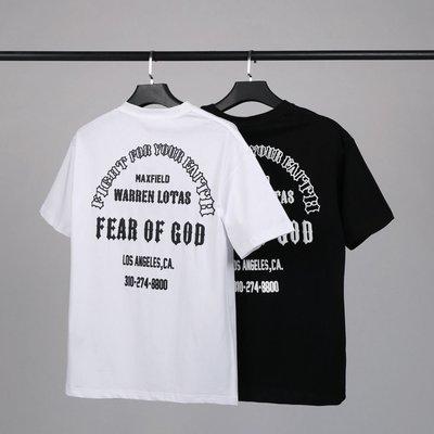 FEAR OF GOD FOG ESSENTIALS限定款圣誕樹印花短袖T恤男女潮牌ins