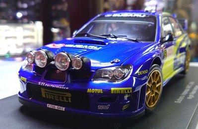 autoart 1/18。Subaru Impreza WRC 2006 #5 夜戰版。原盒