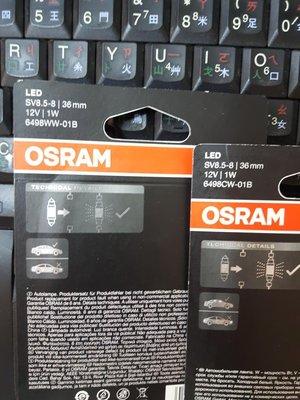 6000k 4000k 1w Led Osram 36mm C5W 亮白 暖白 6498 ww cw Festoon NF6436 Neolux Philips