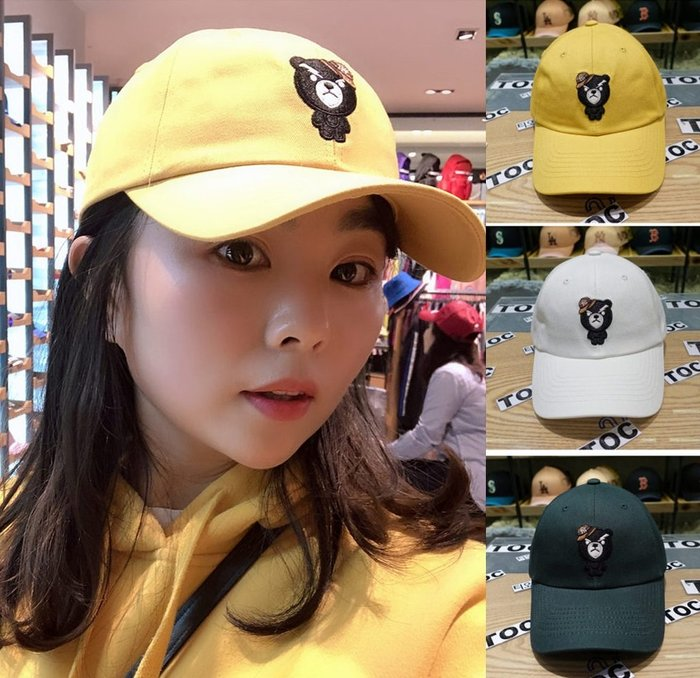 MLB 紐約洋基隊 棒球帽  可愛小熊款 現貨!