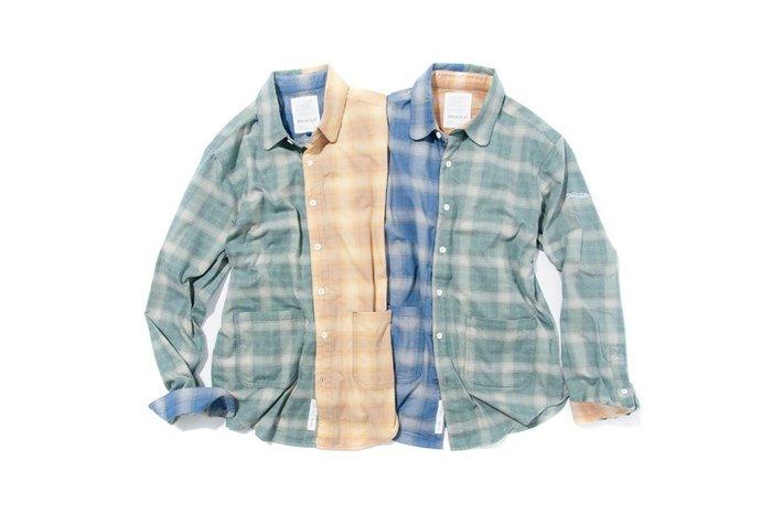 { POISON } DeMarcoLab 3-TONE CHECK L/S SHIRT 三色格紋概念 純棉磨毛襯衫