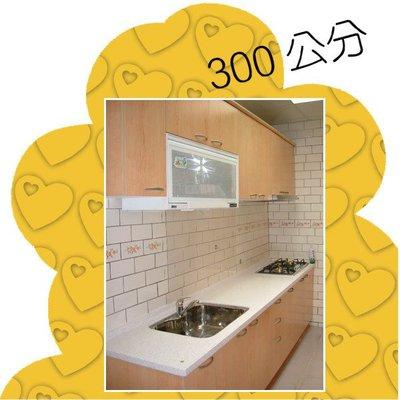 【大廚房】 300公分 人造石 流理台 廚具 木紋 美耐門板 自由 選色 工廠直營 現場丈量 電話 報價