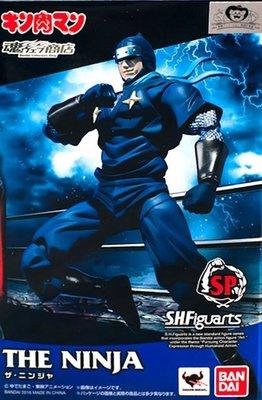 日本正版 萬代 S.H.Figuarts SHF 金肉人 筋肉人 忍者人 可動 模型 公仔 日本代購