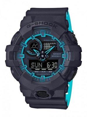 CASIO卡西歐G-SHOCK超人氣大錶徑推出亮彩新色設計採用多層次錶盤設計GA-700SE-1A2 GA-710GB