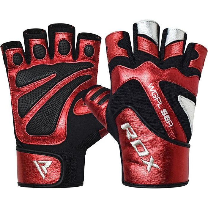 【線上體育】RDX GYM GLOVE PAPER LEATHER RED RDX005